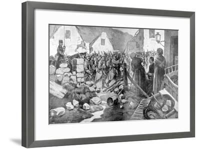 The Regiment Salutes, 1915--Framed Giclee Print
