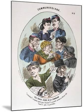 Les Beaux Jours De La Commune, 1871--Mounted Giclee Print