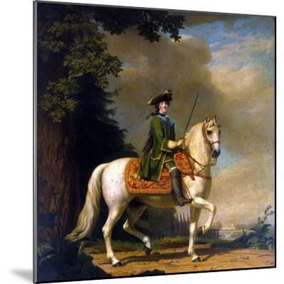 Equestrian Portrait of Empress Catherine II, (1729-179), after 1762-Vigilius Erichsen-Mounted Giclee Print