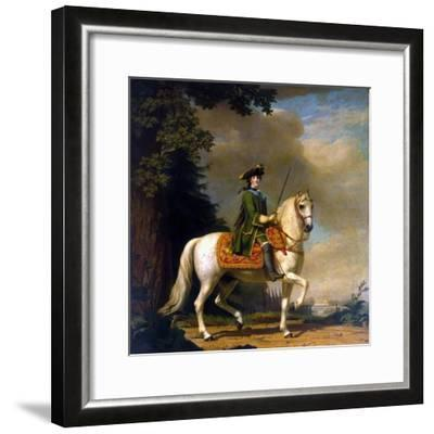 Equestrian Portrait of Empress Catherine II, (1729-179), after 1762-Vigilius Erichsen-Framed Giclee Print
