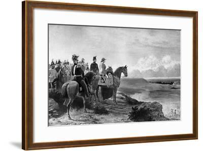 Queen Victoria Reviewing Her Troops, Aldershot, 1856-C Thomas-Framed Giclee Print