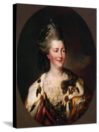 Portrait of Empress Catherine II, (1729-179), 1782-Richard Brompton-Stretched Canvas Print