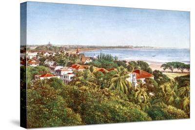 A View from the Ridge, Bombay, India, Early 20th Century--Stretched Canvas Print