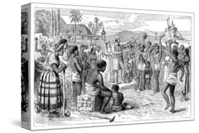 The Emancipation of Slaves on a West Indian Plantation, Early 19th Century--Stretched Canvas Print