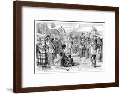 The Emancipation of Slaves on a West Indian Plantation, Early 19th Century--Framed Giclee Print
