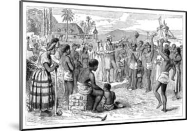 The Emancipation of Slaves on a West Indian Plantation, Early 19th Century--Mounted Giclee Print