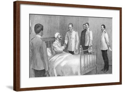 Admiral Togo Visiting Russian Admiral Rozhestvensky in Hospital, Russo-Japanese War ,1904-5--Framed Giclee Print