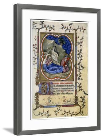The Nativity, from a Book of Hours and Missal C1370-Maitre Aux Boquetaux-Framed Giclee Print