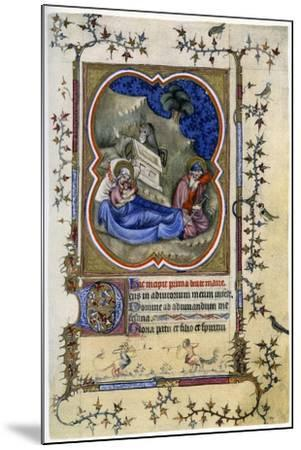 The Nativity, from a Book of Hours and Missal C1370-Maitre Aux Boquetaux-Mounted Giclee Print