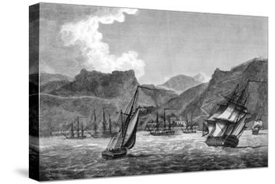 British Shipping Off St Helena, 1817--Stretched Canvas Print
