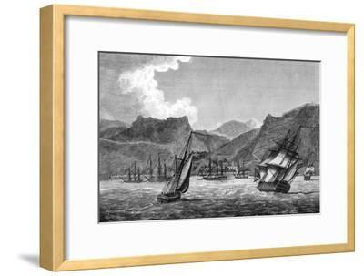 British Shipping Off St Helena, 1817--Framed Giclee Print