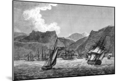 British Shipping Off St Helena, 1817--Mounted Giclee Print