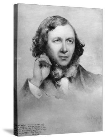 Robert Browning, British Poet, 1859-Field Talfourd-Stretched Canvas Print