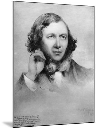 Robert Browning, British Poet, 1859-Field Talfourd-Mounted Giclee Print