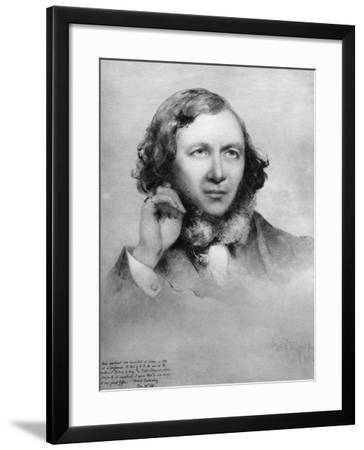Robert Browning, British Poet, 1859-Field Talfourd-Framed Giclee Print