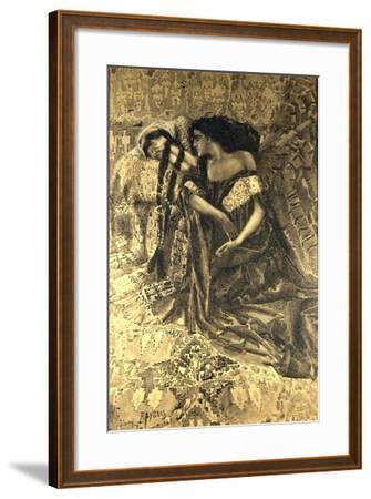 Tamara and Demon, 1890-1891-Mikhail Alexandrovich Vrubel-Framed Giclee Print