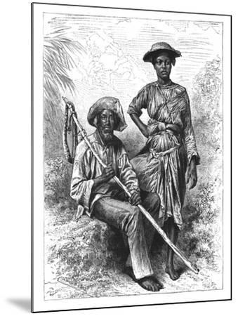 Snake Catcher and Charcoal Girl, Martinique, C1890--Mounted Giclee Print