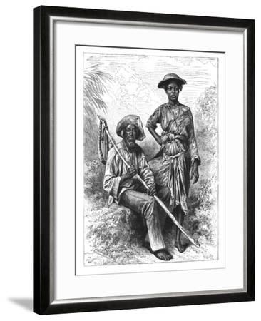 Snake Catcher and Charcoal Girl, Martinique, C1890--Framed Giclee Print