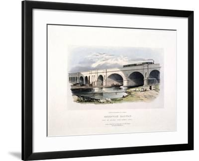 View of the Surrey Canal, Deptford, London, C1840--Framed Giclee Print