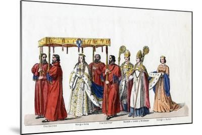 Costume Designs for Shakespeare's Play, Henry VIII, 19th Century--Mounted Giclee Print