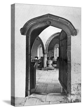 Entrance to the Chapel, Haddon Hall, Derbyshire, 1924-1926--Stretched Canvas Print