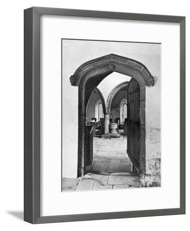 Entrance to the Chapel, Haddon Hall, Derbyshire, 1924-1926--Framed Giclee Print