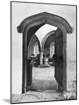 Entrance to the Chapel, Haddon Hall, Derbyshire, 1924-1926--Mounted Giclee Print