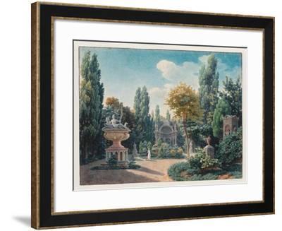 Monument of Diane De Poitiers in the Jardin Du Cloître Des Petits-Augustins, 1815-Jean-Lubin Vauzelle-Framed Giclee Print