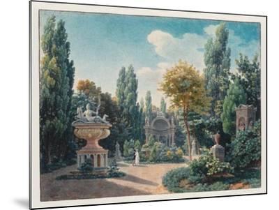Monument of Diane De Poitiers in the Jardin Du Cloître Des Petits-Augustins, 1815-Jean-Lubin Vauzelle-Mounted Giclee Print