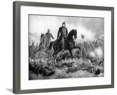 Wilhelm I at the Battle of Sadowa, 3 July 1866--Framed Giclee Print