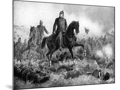 Wilhelm I at the Battle of Sadowa, 3 July 1866--Mounted Giclee Print