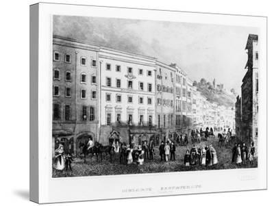 The House in Salzburg in Which Mozart Was Born in 1791, (Mid 19th Centur)--Stretched Canvas Print