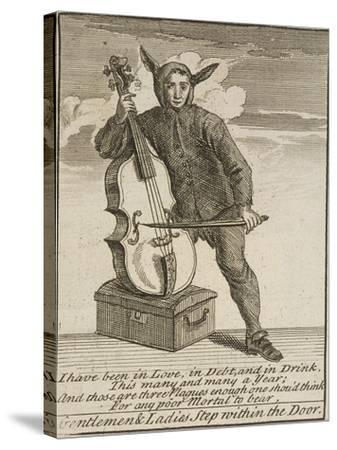 A Street Musician Dressed in Costume, Cries of London, C1688-Marcellus Laroon-Stretched Canvas Print