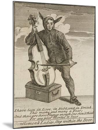 A Street Musician Dressed in Costume, Cries of London, C1688-Marcellus Laroon-Mounted Giclee Print