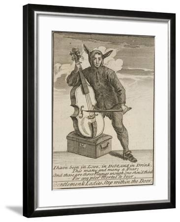 A Street Musician Dressed in Costume, Cries of London, C1688-Marcellus Laroon-Framed Giclee Print