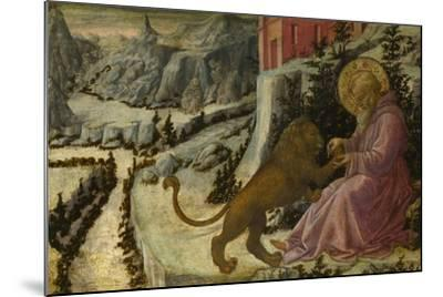 Saint Jerome and the Lion (Predella Panel of the Pistoia Santa Trinità Altarpiec), 1455-1460-Fra Filippo Lippi-Mounted Giclee Print