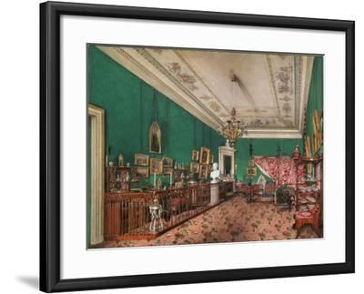 Interiors of the Winter Palace, the Bedroom of Grand Princess Maria Nikolayevna, 1837-Konstantin Andreyevich Ukhtomsky-Framed Giclee Print