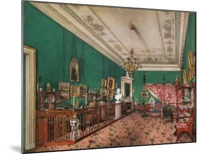Interiors of the Winter Palace, the Bedroom of Grand Princess Maria Nikolayevna, 1837-Konstantin Andreyevich Ukhtomsky-Mounted Giclee Print