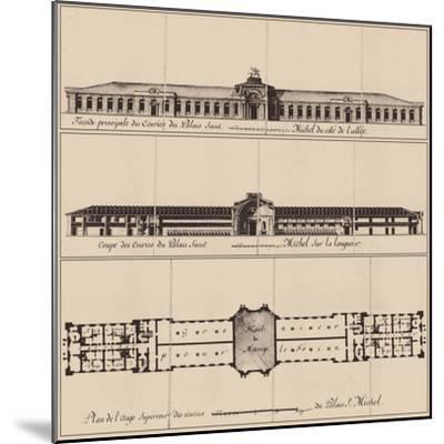 Saint Michael's Castle in Saint Petersburg, 1797--Mounted Giclee Print