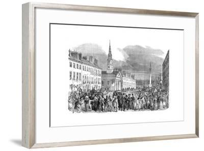 A Procession of Seceding Ministers from St.Andrew's Church, Edinburgh, C1895--Framed Giclee Print