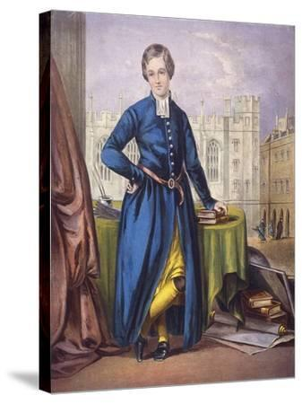Christ's Hospital Pupil, City of London, 1854--Stretched Canvas Print
