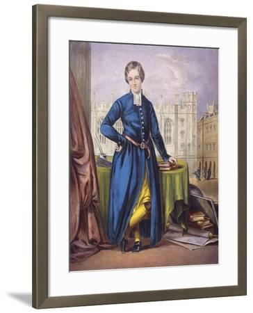 Christ's Hospital Pupil, City of London, 1854--Framed Giclee Print