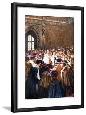 The Opening of Parliament by King Edward VII, C1905-Arthur David McCormick-Framed Giclee Print