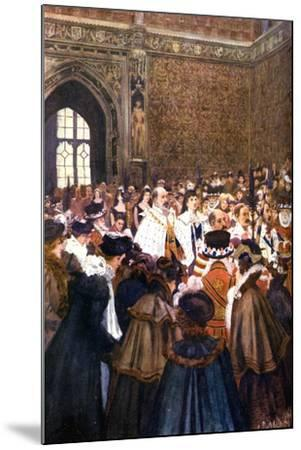 The Opening of Parliament by King Edward VII, C1905-Arthur David McCormick-Mounted Giclee Print