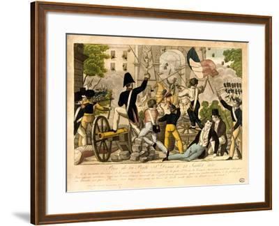 Prise De La Porte St Denis Le 28th Juillet 1830, Revolution of 1830, Paris--Framed Giclee Print