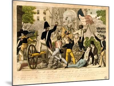 Prise De La Porte St Denis Le 28th Juillet 1830, Revolution of 1830, Paris--Mounted Giclee Print