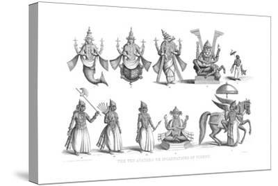 The Ten Avatars or Incarnations of Vishnu, C1880--Stretched Canvas Print