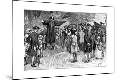George Whitefield Preaching in the Open Air C1870--Mounted Giclee Print