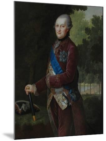 Portrait of Peter Von Biron (1724-180), Duke of Courland and Semigallia, 1781-Friedrich Hartmann Barisien-Mounted Giclee Print