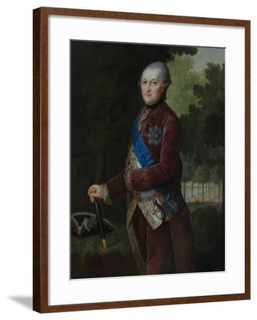 Portrait of Peter Von Biron (1724-180), Duke of Courland and Semigallia, 1781-Friedrich Hartmann Barisien-Framed Giclee Print